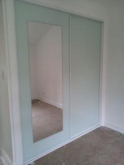 12 White Glass & Mirror Insert