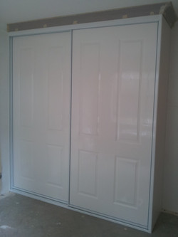 17 Alumin. framed Poly panel doors