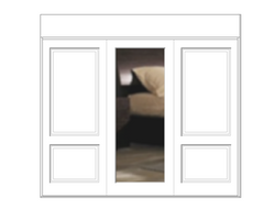Midrail decor doors