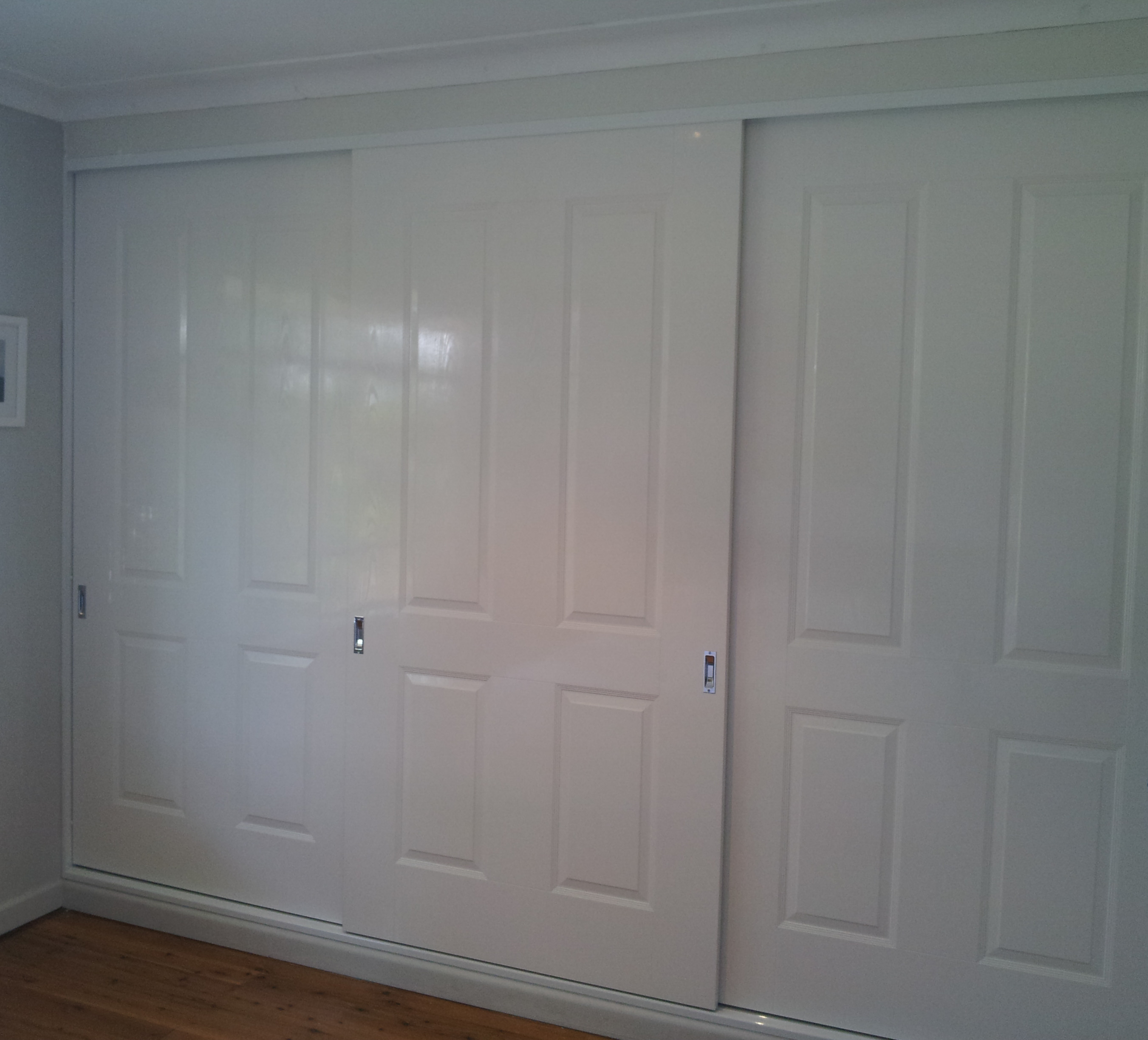 15 Frameless Poly 4 Panel Doors