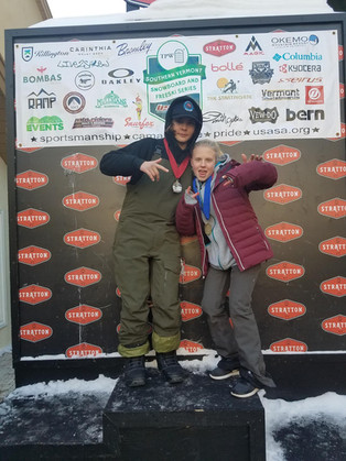 Snowboard and Freeski athletes take podium spots in Stratton and Minnesota