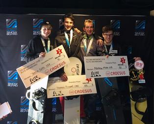 Snowboard Cross athletes grab podium spots in Quebec