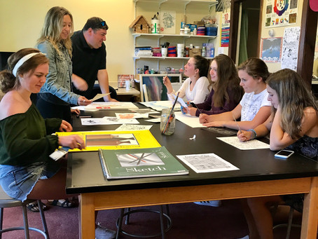 Blending art and writing in the classroom