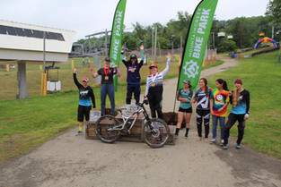 Mazie Hayden takes second in first career pro downhill mountain bike race