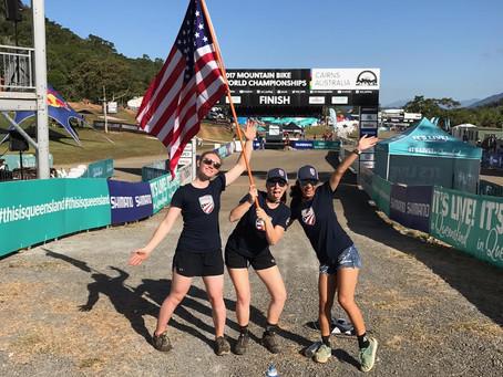 Mazie Hayden races for Team USA at MTB Worlds
