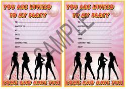 Disco Pink Party Invitation