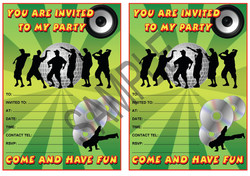 Disco Party Invitation