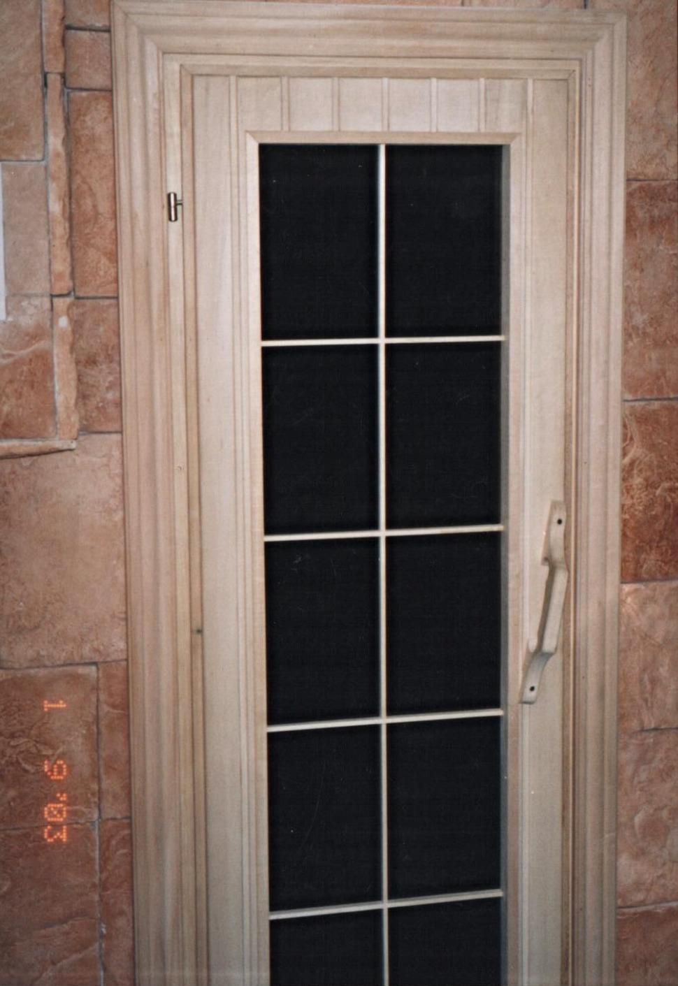 дверь из массива матовое стекло