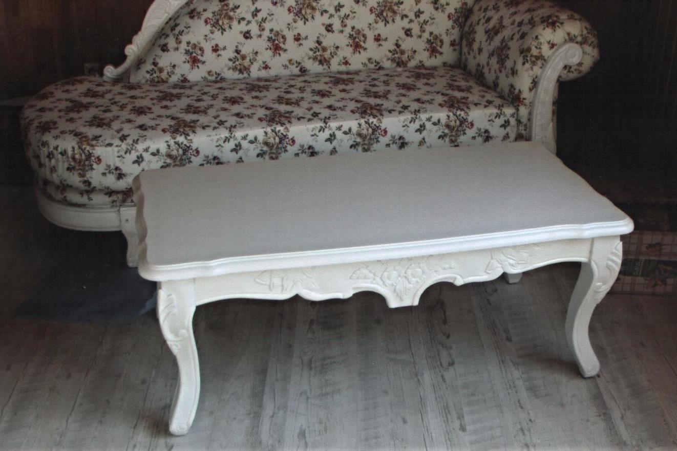 белый журнальный стол