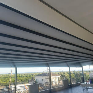 PERGOSYSTEM 13.50m x 5.50m  ΜΕ ΦΩΤΙΣΜΟ DIMMER LED