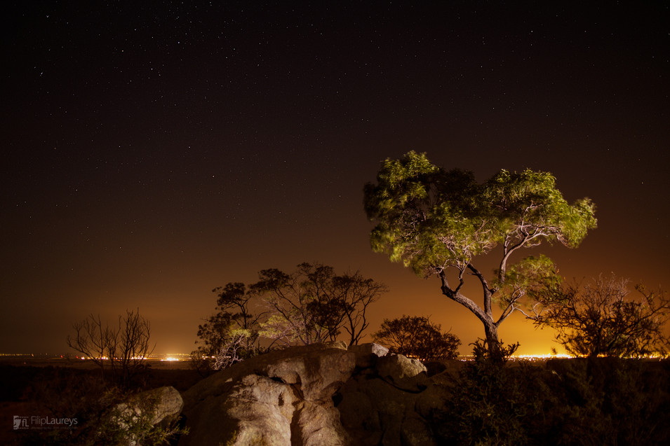 Night in You Yangs, Australia