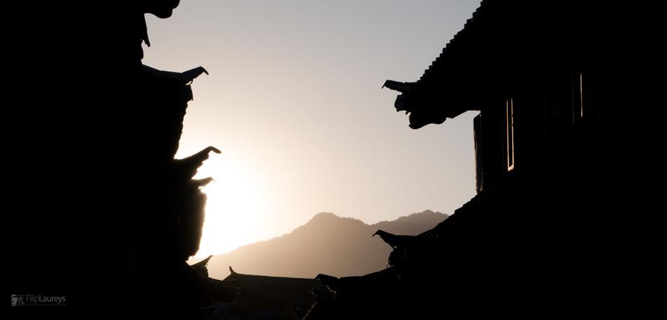 Roofs of Lijiang, China