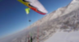 Paragliding The V in Winter