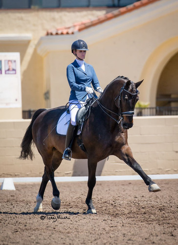 Kim McGrath dressage rider leg yield
