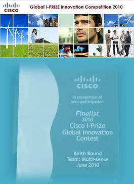 Keith Bound awared Cisco I prize innovation award 2010