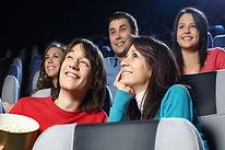 Audience watching a film while havin their physiological responses measured to understand how what story elements engage or disengage audiences