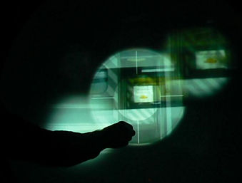 Gesture based interactive film experience prototype testing 3