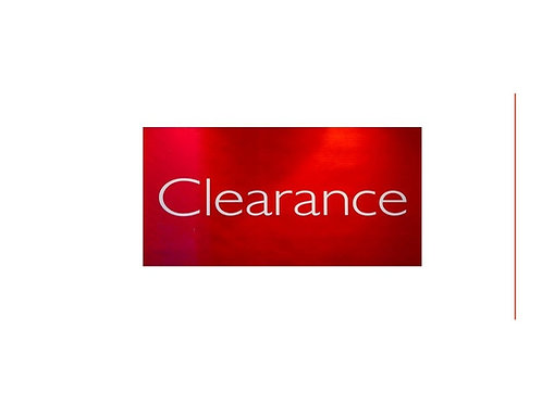 CLEARANCE items...while they last!