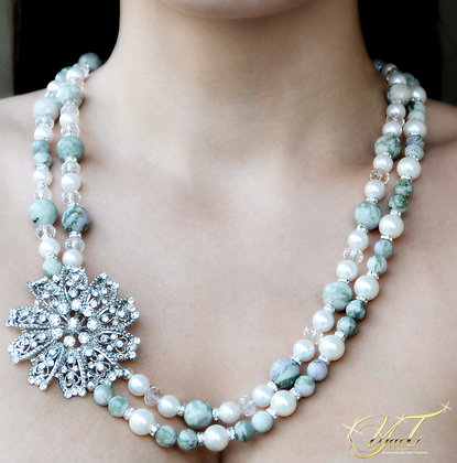 Marble Jade and Pearl (set)