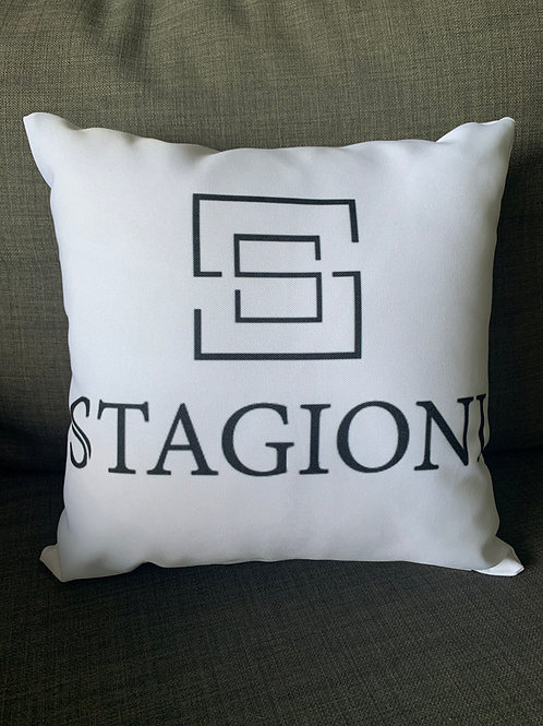 Pillow with SSTAGIONI logo