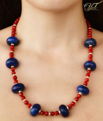 Blue Lapis and Red Coral