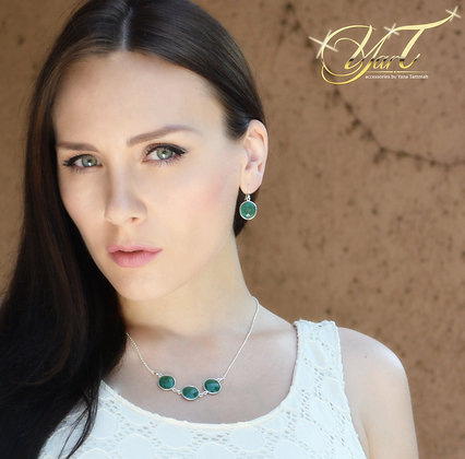 Emerald in Silver (set)