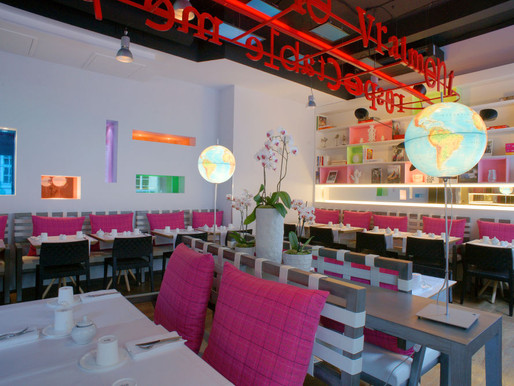 """"""" Les Mots Passants """"  restaurant @ Hotel Bel Ami, Pari"""