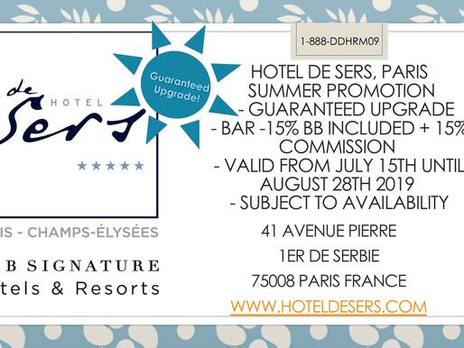 Guaranteed Upgrade with Hotel de Sers
