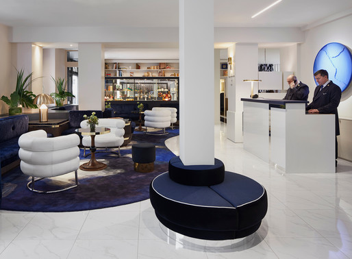 The new lobby at the Hotel Bel Ami, Paris