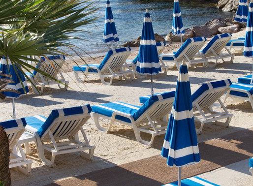 Hotel Royal Riviera's private beach on Saint-Jean-Cap-Ferrat