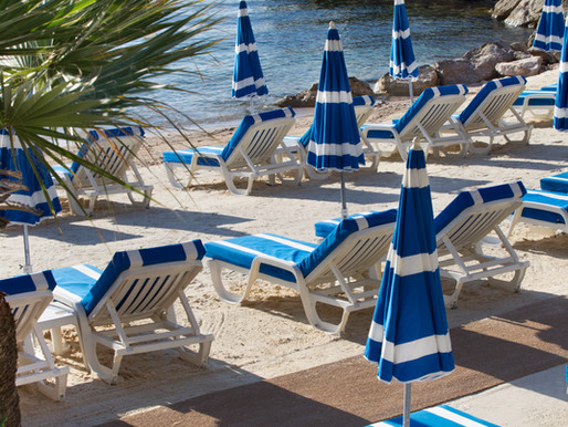 The private beach at the Hotel Riviera, Saint-Jean-Cap-Ferrat
