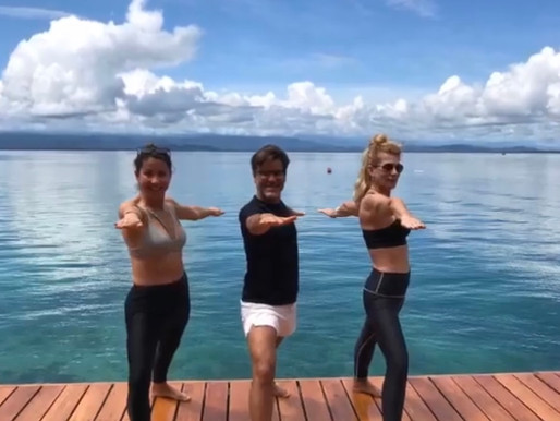 Yoga on Sweet Bocas, Panama