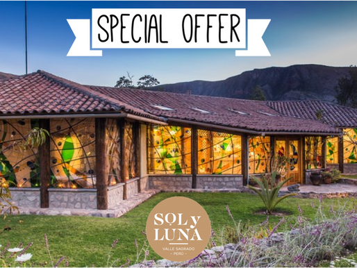 Special offer with Sol y Luna Peru