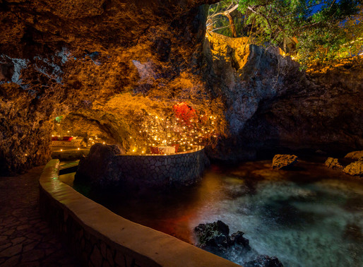 Dining at The Caves, Jamaica