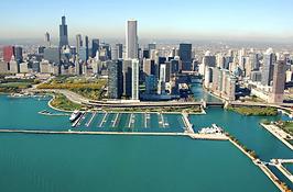 Chicago Skyline from Marina