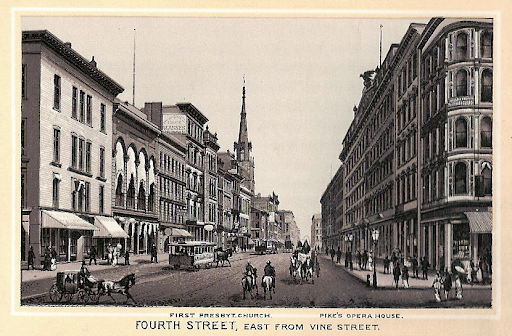 Late 1800's, 4th & Vine St- Photo courtesy cincinnativiews.net