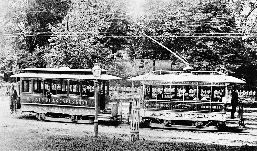 First electric streetcar, 1888- Photo courtesy cincinnativiews.net