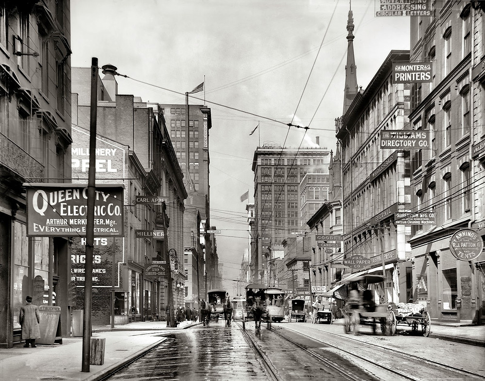 1910, 4th & Main St- Photo courtesy cincinnativiews.net