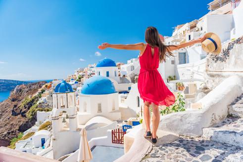 Europe travel vacation fun summer woman