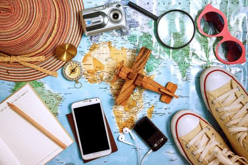 Travel plan, trip vacation, tourism mock