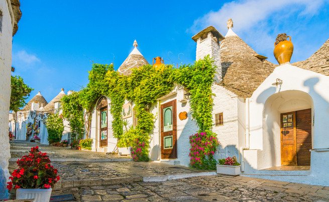 The traditional Trulli houses in Alberob