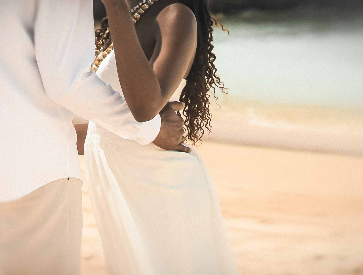 Black couple engagement in Hawaii