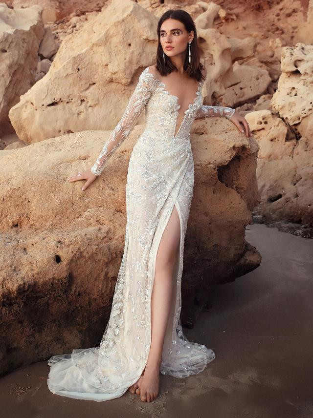 galia lahav wedding dress for hawaii wedding