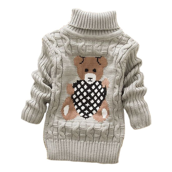 Kids Knitted High Collar Turtleneck