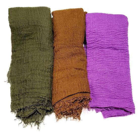 3 PCS Women Soft Scarf Shawl Long Scarf, Scarf and Wrap, Big Head Scarf