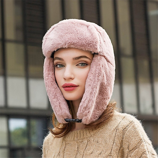 Ear Warm Bomber Hat Cold proof  Winter Thicken Faux Fur