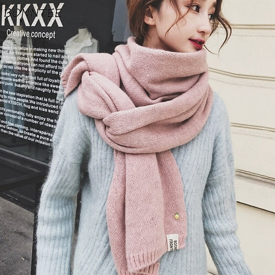 Scarves Women Lovely Solid Knitting Long Scarf