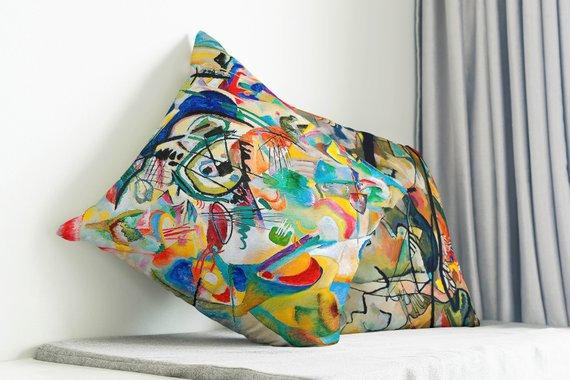 Kandinsky Art Pillow Set Living Room Decor