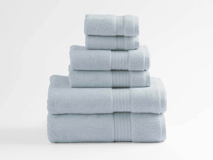 100% Organic Cotton Turkish Dobby Design Bath Towel Set