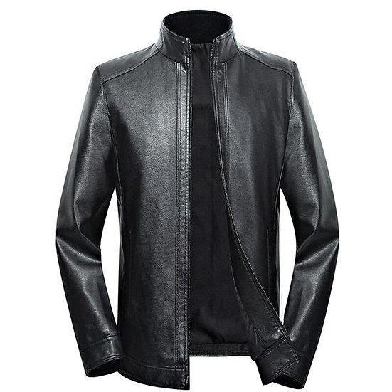 Plus Size Men Genuine Leather Jacket